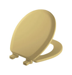 Mayfair  Never Loosens  Round  Harvest Gold  Molded Wood  Toilet Seat