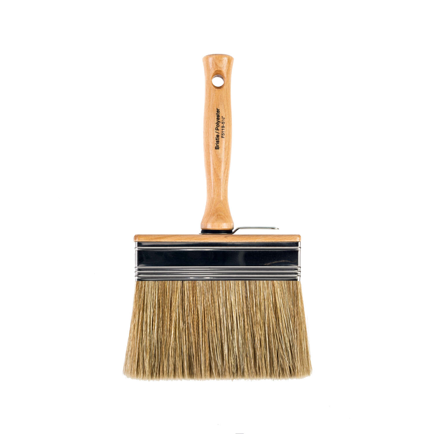 Wooster  5 1/2 in. W Flat  Polyester and White China Bristle  Paint Brush  Bravo Stainer