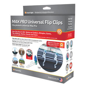 Simple Living  Max Pro  Universal  Light Hanger Clips  White  Polypropylene  60 count