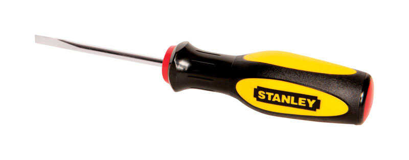 Stanley  3 in. Slotted  3/16  Screwdriver  Steel  Yellow  1 pc.