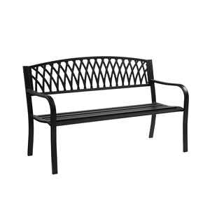 Living Accents  Grass Back  Park Bench  Steel  33.46 in. H x 50 in. L x 23.62 in. D