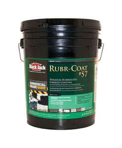 Black Jack  Rubr-Coat 57  Gloss  Black  Rubber  Roof Coating  5 gal.