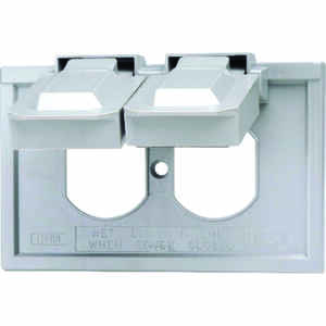 Leviton  Rectangle  Thermoplastic  1 gang Weatherproof Cover  For 1 Duplex Receptacle
