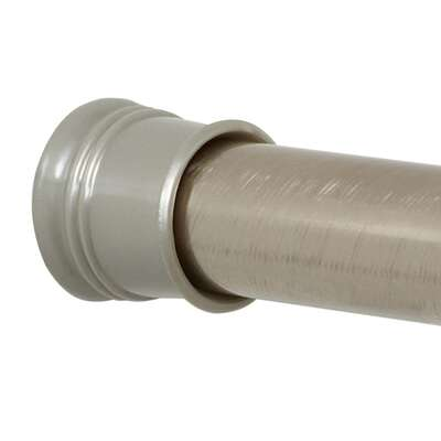 Zenna Home Shower Curtain Rod 72 in. L Brushed Nickel