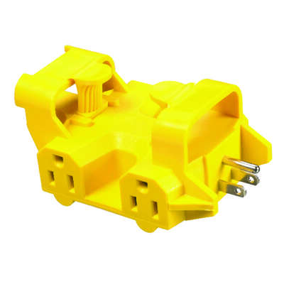 Yellow Jacket  Grounded  5 outlets Adapter  1 pk