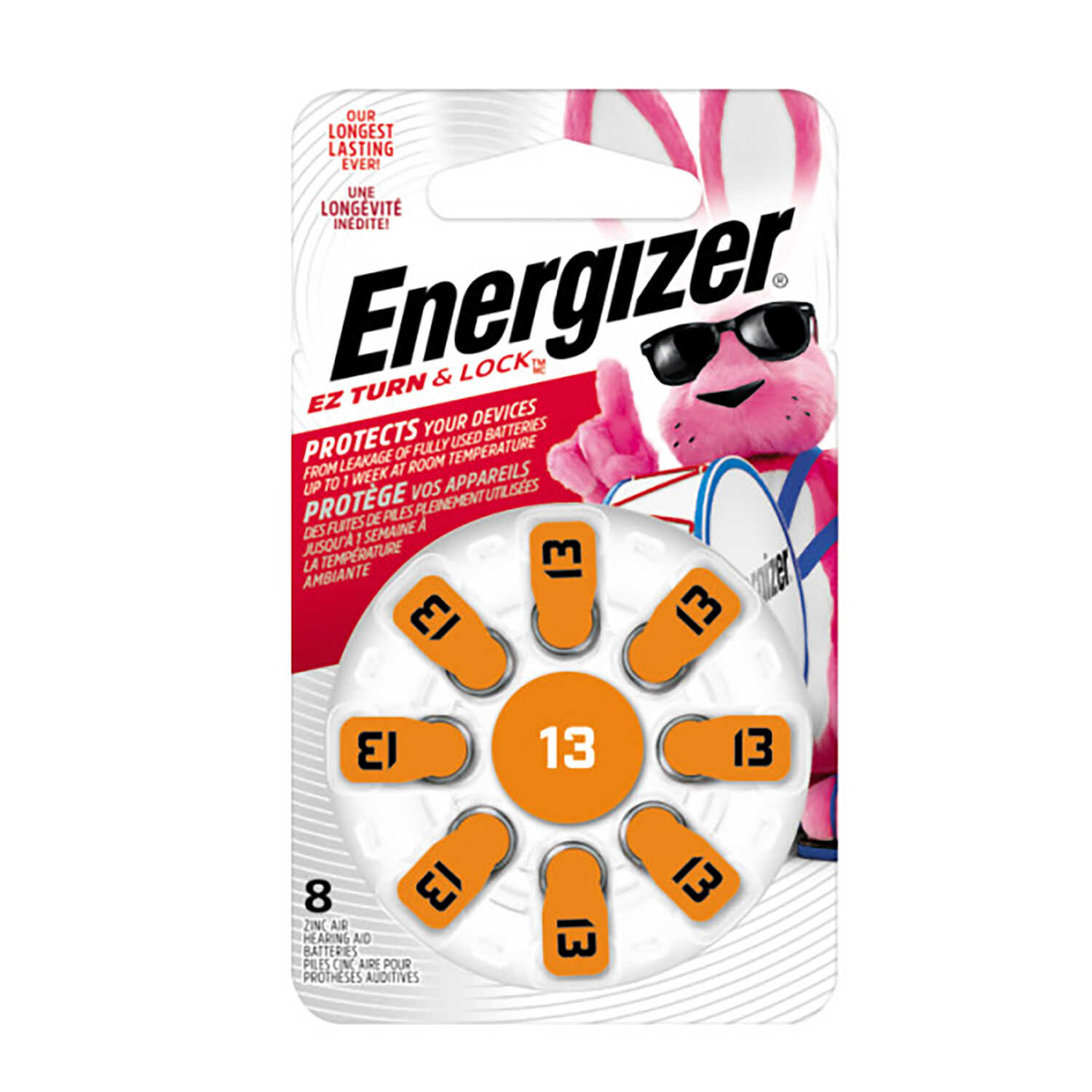Energizer  Zinc Air  13  1.4 volt Hearing Aid Battery  8 pk