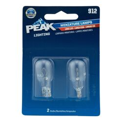 Peak  Incandescent  Indicator  Miniature Automotive Bulb  912