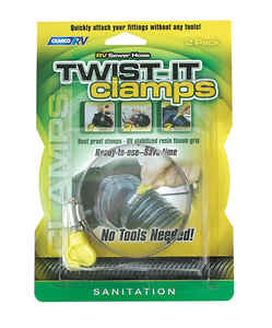 Camco  Sewer Hose Twist-It Clamps  2 pk