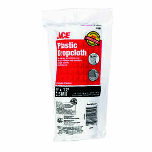 ACE  9 ft. W x 12 ft. L x 0.5 mil  Plastic  Drop Cloth  1 pk
