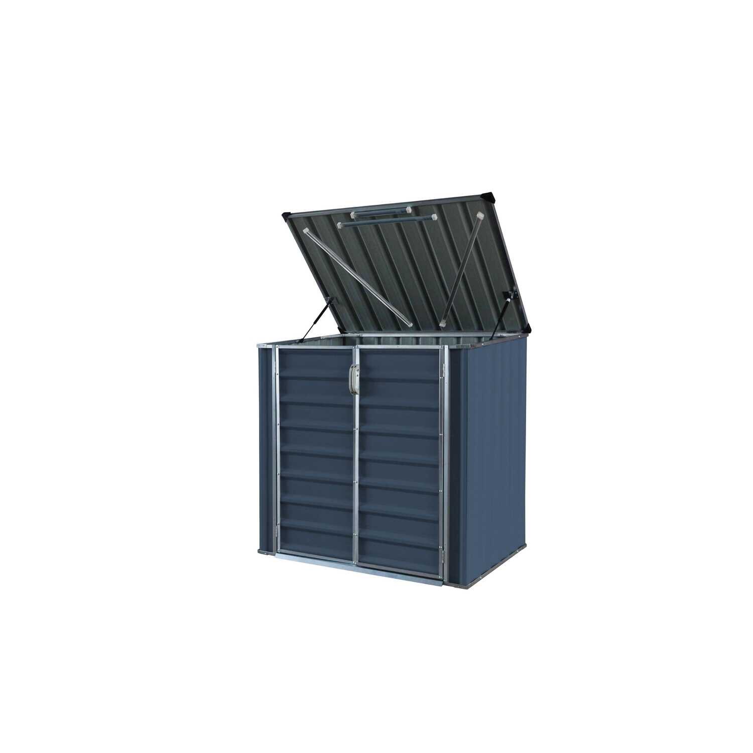 Build-Well  4.41 ft. H x 4.75 ft. W x 3.175 in. D Gray  Galvanized Steel  Storage Shed