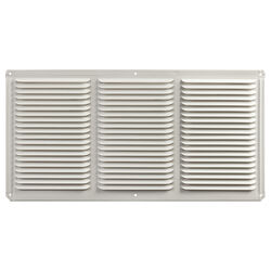 Master Flow  8 in. H x 16 in. W x 16 in. L Powder-Coated  White  Aluminum  Undereave Vent