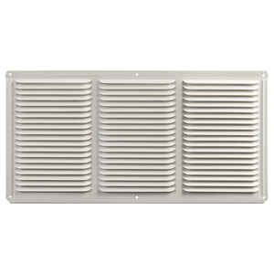 Master Flow  8 in. H x 16 in. W White  Aluminum  Undereave Vent