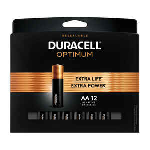 Duracell  Optimum  AA  Alkaline  Batteries  12 pk Carded