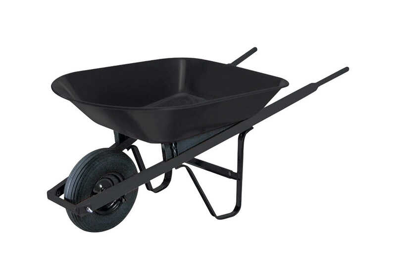 Ames  True Temper  Steel  Wheelbarrow  4 cu. ft.