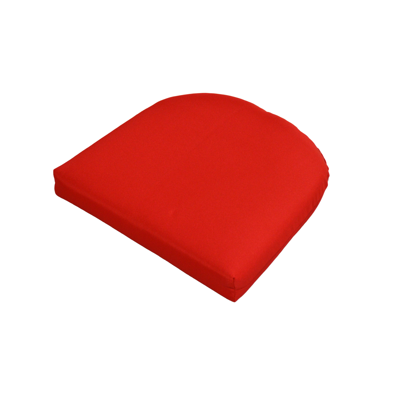 Casual Cushion  Polyester  2.5 in. Red  Seating Cushion  18 in. 18 in.