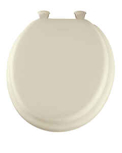 Mayfair  Round  Bone  Vinyl  Cushioned Toilet Seat