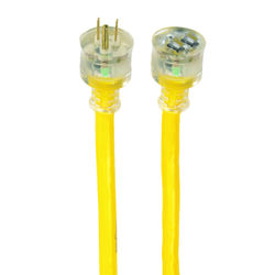 Yellow Jacket  Outdoor  100 ft. L Yellow  Extension Cord  10/3 SJTW