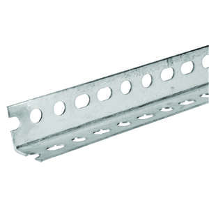 Boltmaster  1.25 in. H x 1.25 in. H x 48 in. L Zinc Plated Steel  Slotted Angle