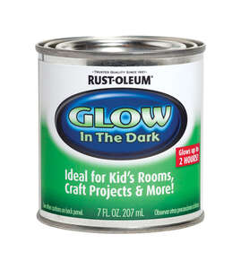 Rust-Oleum  Specialty Glow in the Dark  Indoor  Flat  Luminous  Glow-in-Dark Paint  7 oz.