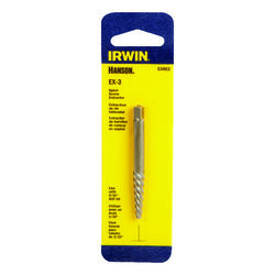 Irwin  Hanson  EX-3   Carbon Steel  Spiral Screw Extractor  6 in. 1 pc.