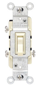 Leviton  CO/ALR  15 amps Toggle  Switch  Ivory  1 pk