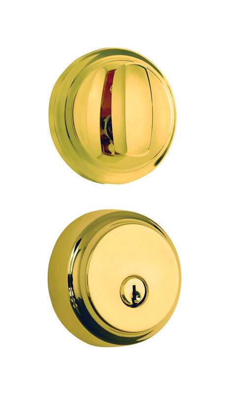 Brinks  Polished Brass  Steel  Deadbolt