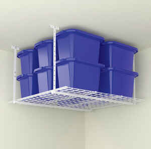Hyloft  28 in. H x 45 in. W x 45 in. D White  Steel  Ceiling Storage Rack