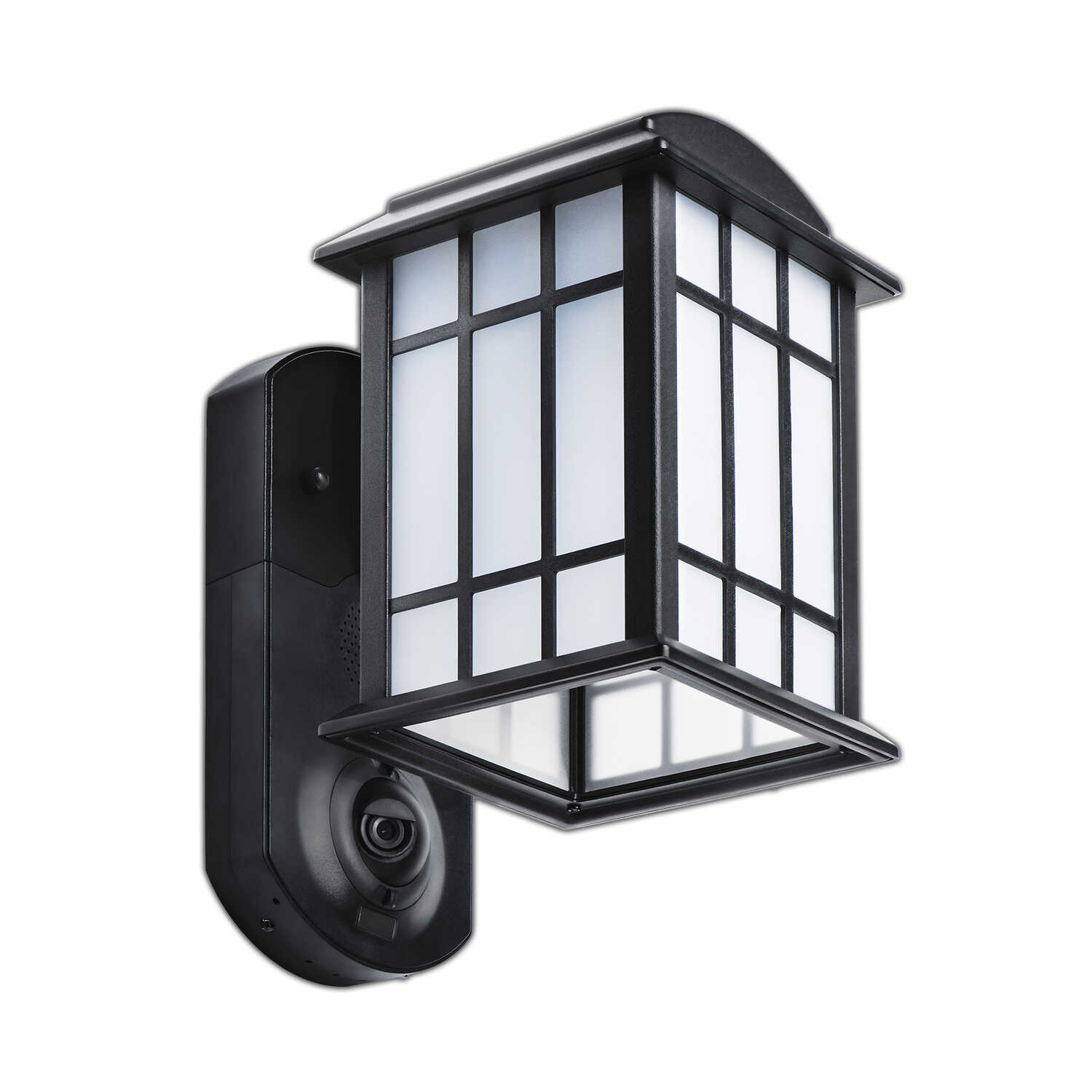 Maximus  Bluetooth-Enabled Motion Sensor  Hardwired  LED  Black  Security Light