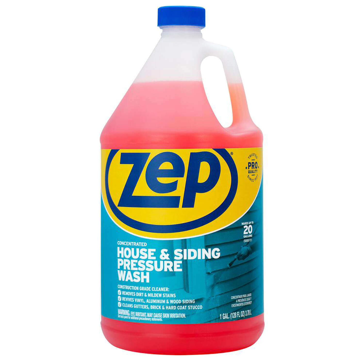 Zep Commercial  No Scent House and Siding Pressure Wash  1 gal. Liquid