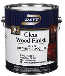 Deft  Wood Finish  Gloss  Clear  Oil-Based  Brushing Lacquer  1 gal.