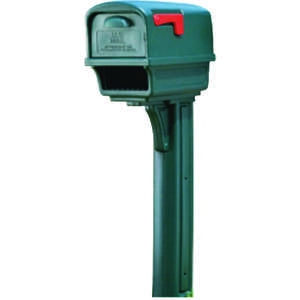 Gibraltar Mailboxes  Gibraltar  Gentry  Plastic  Post and Box Combo  Green  21-3/4 in. L x 21-3/4 in