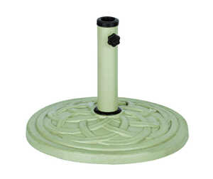 Bond Manufacturing  Taupe  Resin Stone  17.7 in. W x 17.7  L x 13.18 in. H Umbrella Base