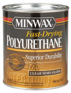 Minwax  Indoor  Semi-Gloss  Clear  Fast-Drying Polyurethane  1 qt. Semi-Gloss