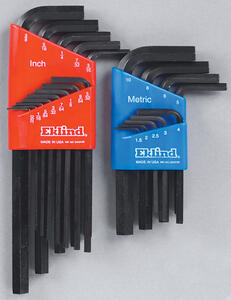 Eklind Tool  Hex-L  Assorted  Metric and SAE  Long and Short Arm  Hex L-Key Set  Multi-Size in. 22 p