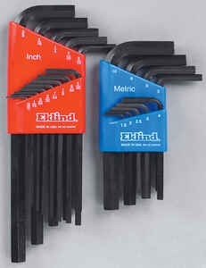 Eklind Tool  Assorted  Metric and SAE  Long and Short Arm  Hex L-Key Set  Multi-Size in. 22 pc.