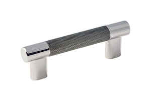 Amerock  Esquire Collection  Cabinet Pull  Gunmetal/Polished Nickel  1 pk
