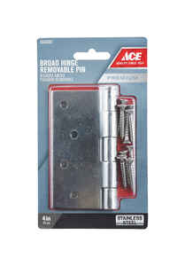 Ace  4 in. L Stainless Steel  Stainless Steel  Door Hinge  1 pk