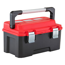 Craftsman  20 in. Plastic  Pro  Cantilever Tool Box  10.73 in. W x 11.75 in. H Black/Red