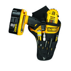 DeWalt 3 pocket Ballistic Nylon Drill Holster 7.3 in. L x 13.75 in. H Black/Yellow