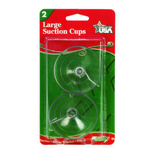 Adams  Large Suction Cup  Hooks  Rubber  2 pk Clear