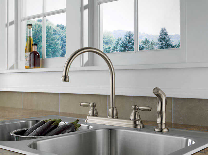 Peerless Claymore Apex Two Handle Stainless Steel Kitchen