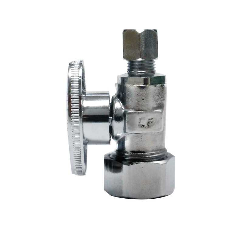 Keeney  1/2 in.  x Comp   x 1/4 in. Dia. x 1/4 in.  Ball  Compression  Straight Valve  5/8 in. Brass