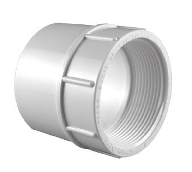 Charlotte Pipe  1-1/2 in. Slip   x 1-1/2 in. Dia. FPT  Pipe Adapter