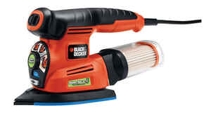 Black and Decker  Smart Select  Corded  Complete Sander  Kit 2 amps 13000 opm Orange
