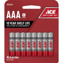 Ace  AAA  Alkaline  Batteries  8 pk Carded