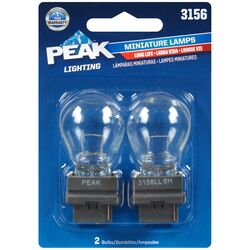 Peak  Incandescent  Parking/Stop/Tail/Turn  Miniature Automotive Bulb  3156