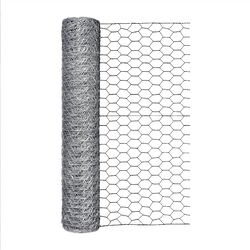 Garden Zone  24 in. H x 50 ft. L 20 Ga. Silver  Poultry Netting