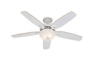 Hunter Fan  Builder Deluxe  52 in. 5 blade Indoor  Snow White  Ceiling Fan