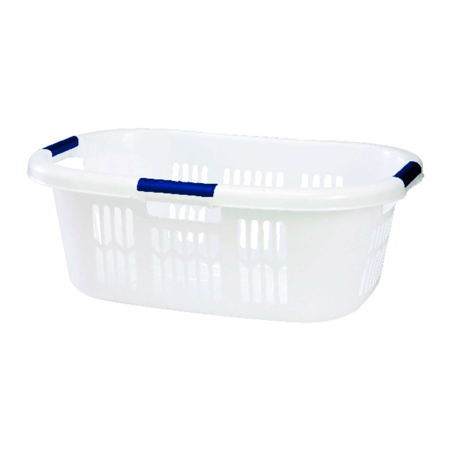 Rubbermaid Laundry Basket 25-3/4 in. x 17 in. x 9-1/2 in. 1 bushel White