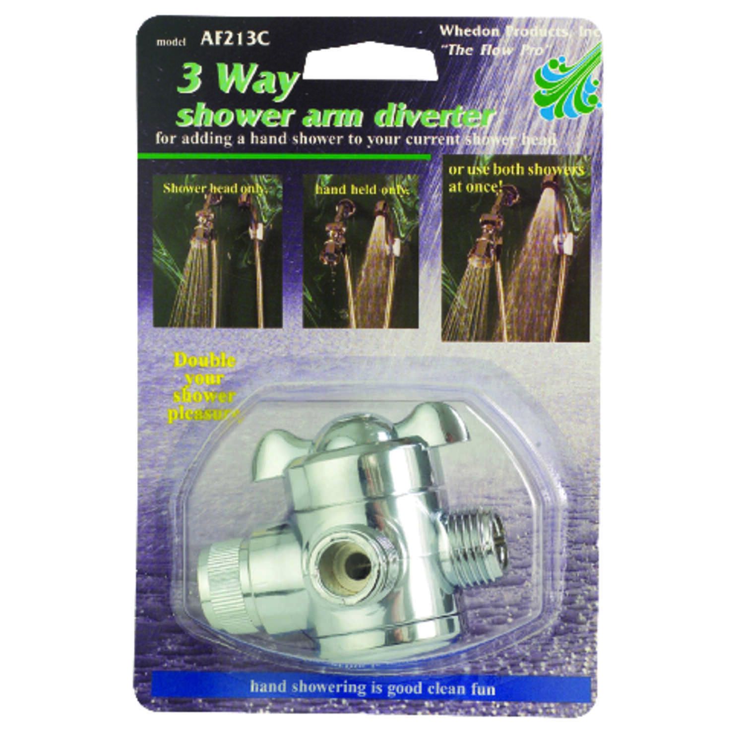 Whedon  Chrome  ABS  Showerhead Diverter Valve